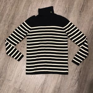 Black and white striped Ralph Lauren turtleneck XS